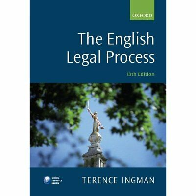 The English Legal Process - Paperback NEW Terence Ingman 2010-11-05