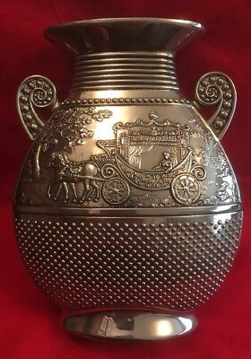 Antique Style Silver Plated Vase