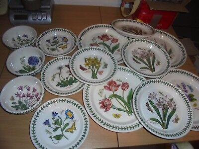 BNWT  Portmeirion Botanic Garden Dinner , salad  tea plates and bowls