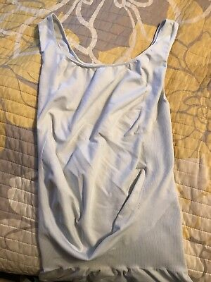 NEW BLANQI Bodystyler Belly Support Overbust Tank Top Size M Winter White