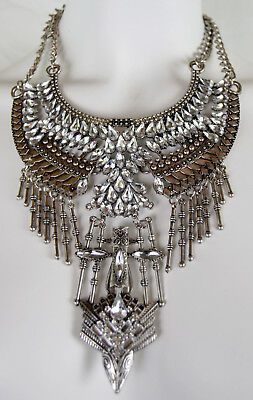 Egyptian Art Deco Style Statment Necklace L XL Cleopatra Collar 20s