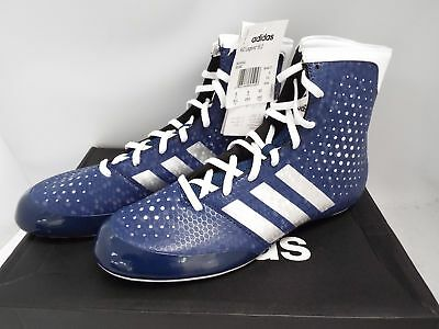 Adidas KO Legend 16.2 Boxing Boots Mens Blue Sports Shoes Trainers UK 8 - Y99