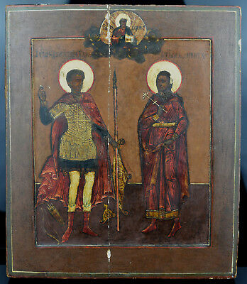 Russische IKONE 18.Jh St. Demetrios Dimitrios Russian ORTHODOX ICON 18th Century