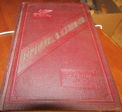 1927 Keuffel & Esser Co. Hard Cover Catalog Book-Drawing/surveying-37Th Edition