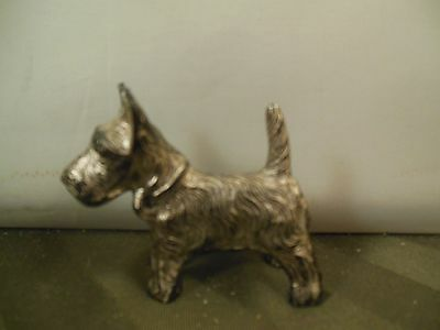 Small Vintage Metal Scotty Dog Scottish Terrier made in Japan