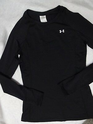 womens size medium UNDER ARMOUR compression coldgear black shirt long sleeves