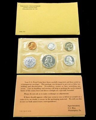1963 US Mint Silver Proof Set Flat Pack w/ COA & Envelope - 5 Coins Uncirculated