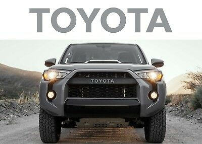 Cement Grey TRD PRO Grill Vinyl Decals For 2015-2018 Toyota 4Runner New USA
