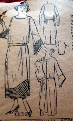 RARE VTG 1920s DRESS PICRORIAL REVIEW Sewing Pattern BUST 36