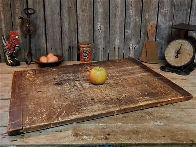 Antique Wooden Cutting Bread Board Jointed Ends Primitive Farmhouse AAFA