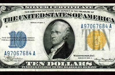 $10 1934A (( NORTH AFRICA )) Silver Certificate  ** MORE CURRENCY FOR SALE **