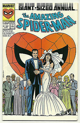 Amazing Spider-Man 1987 Annual #21 Peter Parker Cover Very Fine Wedding Issue