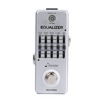Top Donner Equalizer Pedal 5-band Graphic EQ Guitar Effect Pedal US Seller