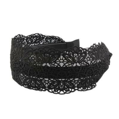 6cm Wide Lace Headband Floral Hair Hoop Embroidery Hairband Vintage Women