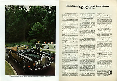 Introducing a new personal Rolls-Royce. The Corniche ad 1972