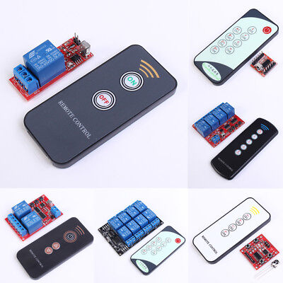 Infrared Receiver IR Relay Driver Board Module 5V/12V + 1/2 Key Remote Control