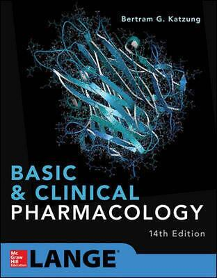 Basic and Clinical Pharmacology 14th Edition by Bertram G. Katzung Paperback Boo