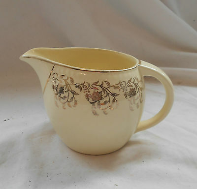 VINTAGE British SWINNERTONS POTTERY Traditional 'HARVEST' CREAM Milk JUG Gold
