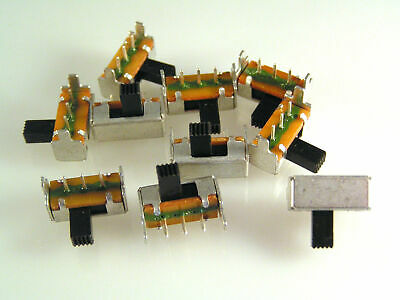 Mini Slide Switch Right Angled PCB Mount SPDT 5 pieces OM0559A