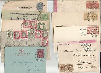 Transvaal , South Africa , 12 X Cards / Covers Including Censor , 1890S / 1900S