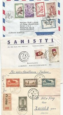 Morocco , 10 X Postal History Items , Covers