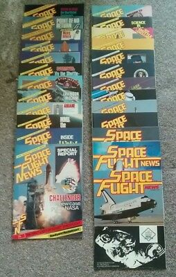 Space Flight News including issues 1-10. 22 in total. Published Mid to late 80s