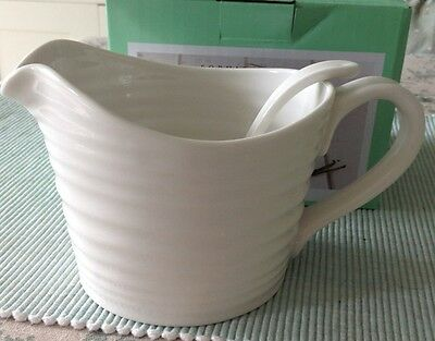 Sophie Conran For Portmeirion Sauce Jug & Mini Ladle White New Boxed