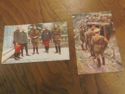 2  Ww1 The King At The Front Daily Mail War Pictures Postcards Series X1 81 & 87