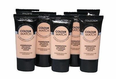 6 x Collection Colour Match Foundation Tubes | Cool Beige | RRP £18 | Wholesale