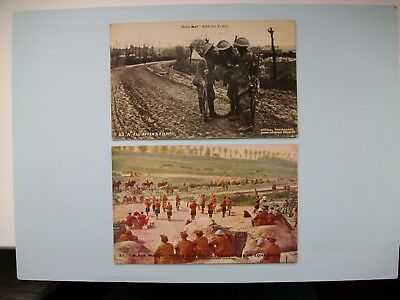 DAILY MAIL BATTLE PICTURES - 2 old postcards WW1