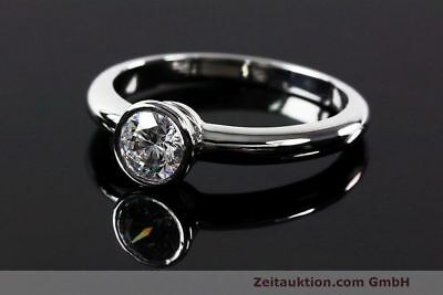 Ring Rom 950 Platin Solitär Diamant Brillant 0,44 CT WERT: 3904,- EUR