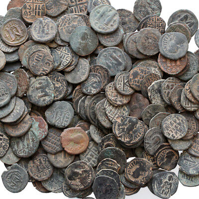 Top Quality Of Big Bronze Follis Or Half Follis Byzantine Coins , One Bib One Co