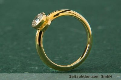 Ring Rom 18k Gold Solitär Diamant Brillant 0,44 CT WERT ca. 3.904,- EUR