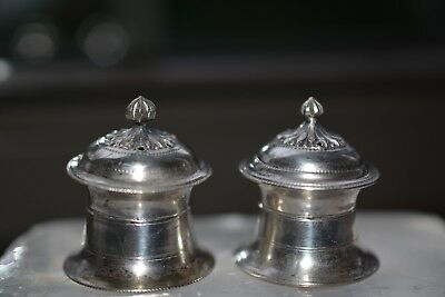 Vintage Sterling Silver 925 Salt & Pepper Shakers Tested Not Weighted