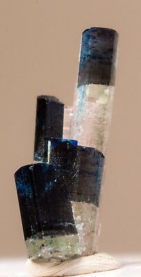 Rare ! Dark Blue And Pink Tourmaline Crystals Cluster - From Afghanistan