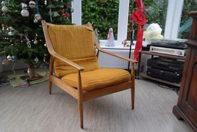 Vintage SCANDART Armchair Bentwood Arms Danish Style Retro Modernist Chic 50's