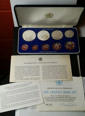 1976 Jamaica Proof Set of Coins