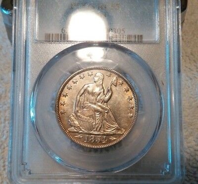 1854-O Seated Liberty Half Dollar PCGS AU 55 ** Better Date, Up-Grade Potential!
