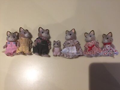 Sylvanian Families Celebration Cat Family - New Without Box, Includes 7 Figures