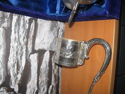 Silver Plated Tankard, Includes The Case.. + Silver Plated Holder..