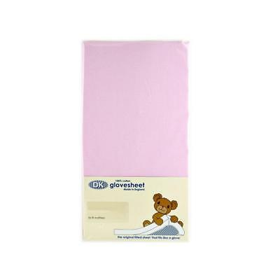 Original DK Glovesheet Large Moses Basket Fitted Sheet (Pink)