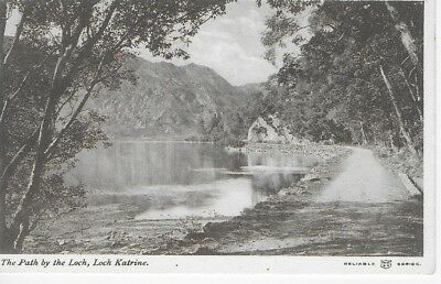 VINTAGE Postcard The Path by The Loch, Loch Katrine Unposted