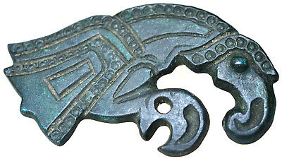Viking Bronze Raven Fibula Brooch