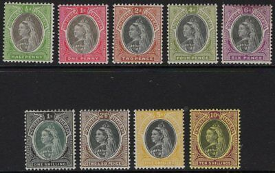 Southern Nigeria Sg1/9 1901 Definitive Set Mtd Mint