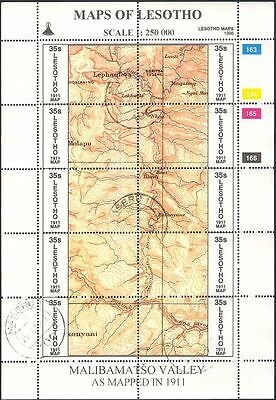 Lesotho 1996 Maps/Map-making/Geography/Cartography/History 3 x shts VFU (s461g)