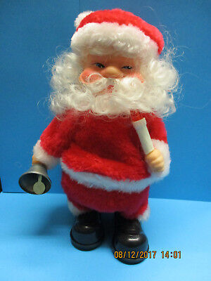 TIANYI SANTA CLAUS B/O 23cm MOTION SOUND & LIGHT VINTAGE 80s TOY MADE IN CHINA