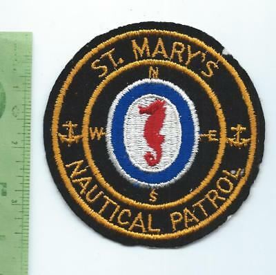 St Mary's School Nautical Patrol  Patch     embroidered on felt