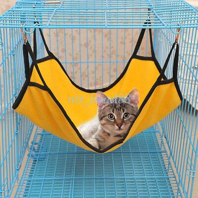 1Pc Cute Soft Fleece Rabbit Cat Hammock Hanging Cage Bed For Pet Sleeping Bed