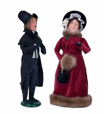 Byers Choice 2017 Carolers Young Scrooge & Belle w/FREE Byers Gift Box