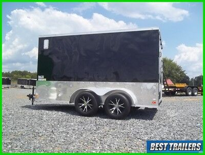 2017 gold series 7 x 12 enclosed double motorcycle trailer cargo 7x12 new v nose